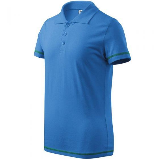 Tricou polo Junior - albastru azuriu