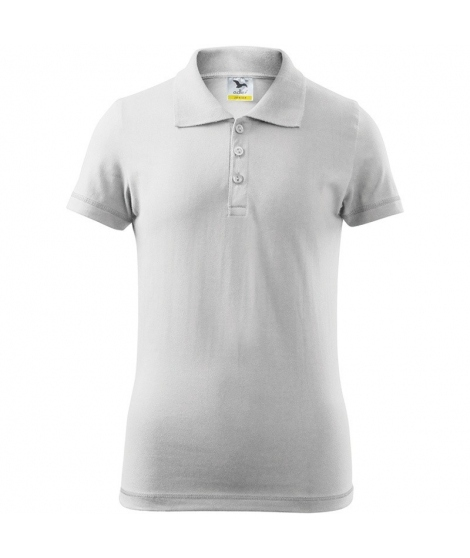 Tricou polo Junior - alb