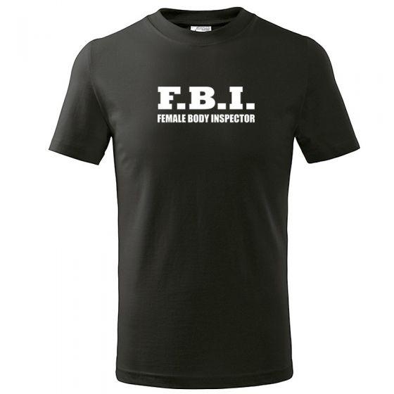 Tricou imprimat - Female Body Inspector, negru, L
