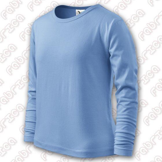 Tricou cu mânecă lungă, pentru copii - culoare bleu