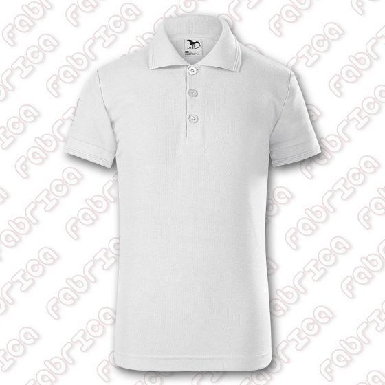 Tricou polo Pique pentru copii - culoare alb