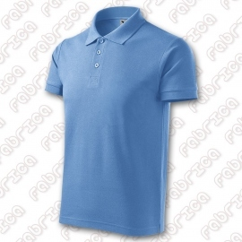 Tricou polo cotton - bleu