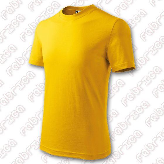 Tricou pentru copii Basic, bumbac 100% - culoare galben