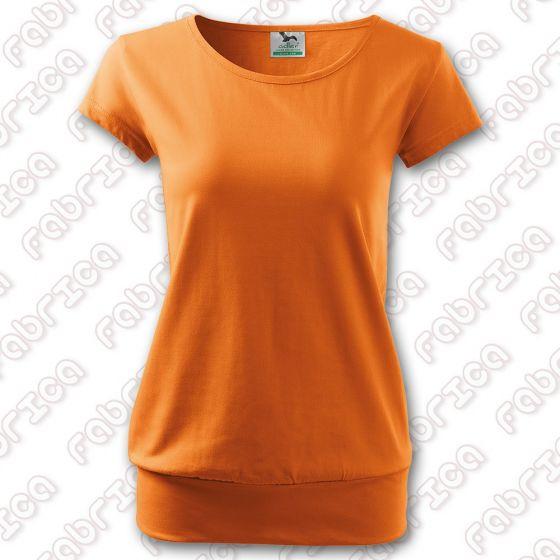 Tricou de damă City, bumbac 100% - culoare chihlimbar