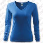 Tricou de dama Elegance, cu maneca lunga - culoare albastru azuriu
