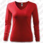 Tricou de dama Elegance, cu maneca lunga - culoare roșu