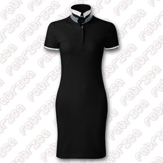 Dress UP - rochie din țesătură pique, cu guler polo