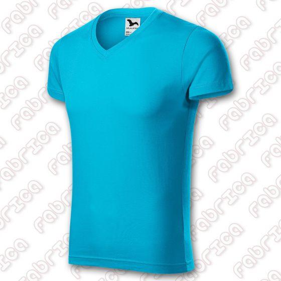 Slim Fit V-Neck - Tricou cu guler în V pentru bărbați