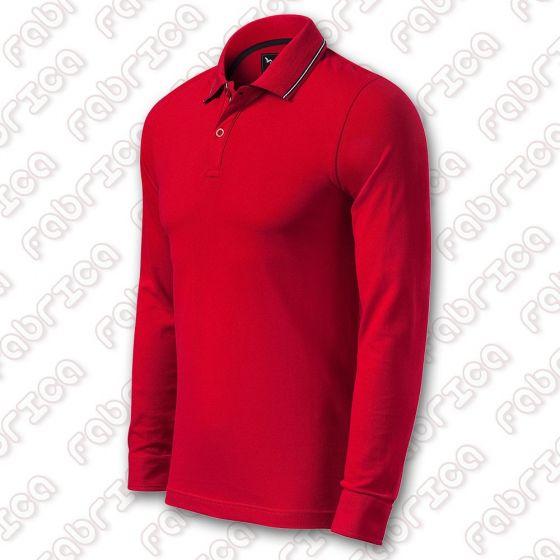 Contrast Stripe LS - tricou polo cu mânecă lungă
