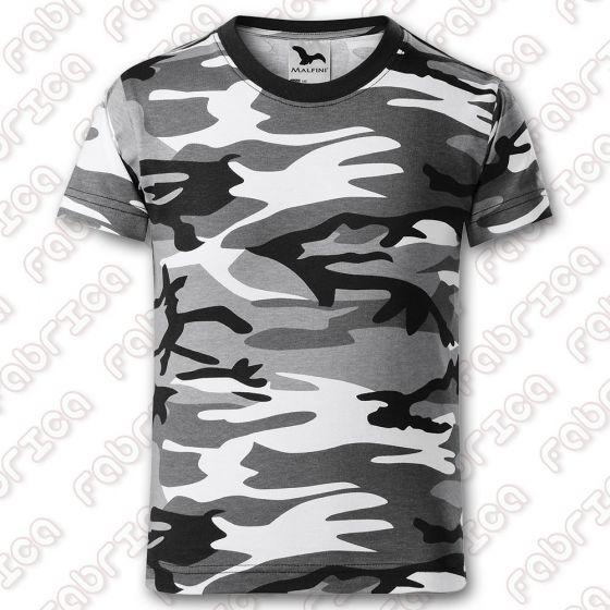 Tricou Camuflaj - pentru copii, gri