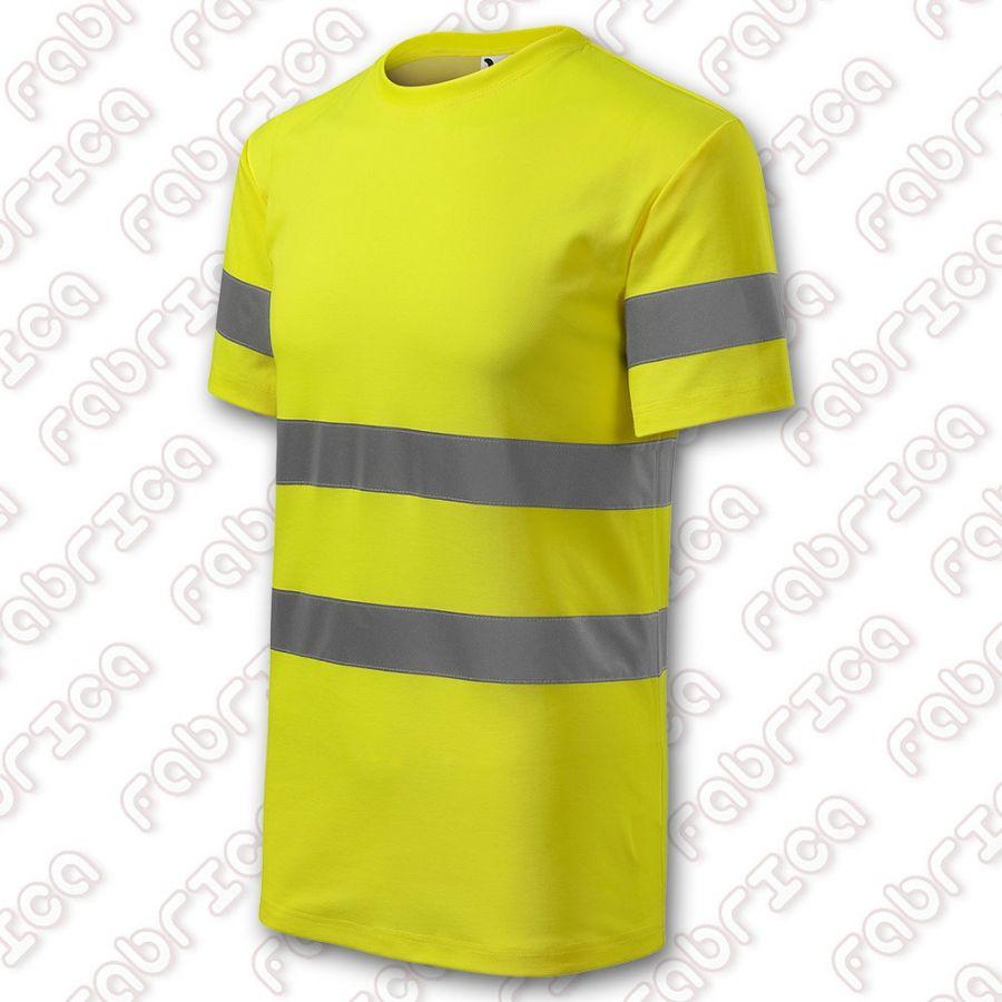 Tricou fluorescent cu benzi reflectorizante