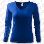 Tricou de dama Elegance, cu maneca lunga - culoare albastru marin